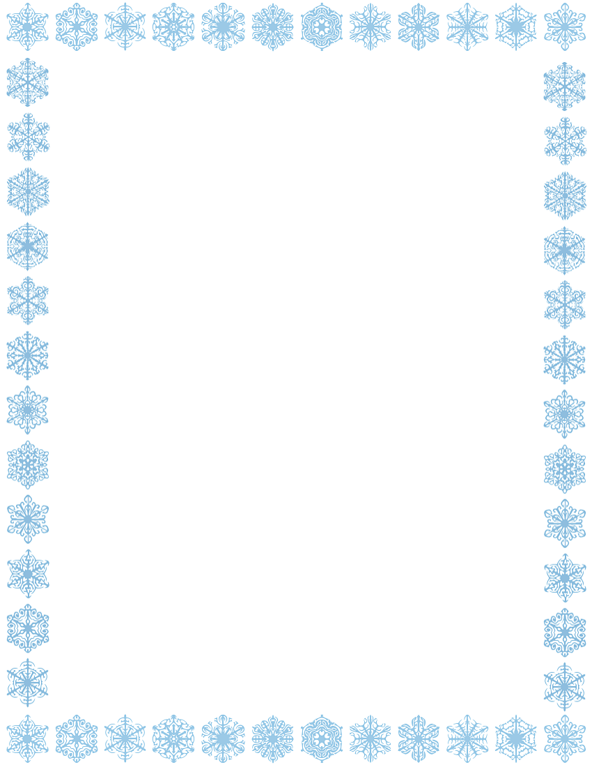 Snowflake Border Page Clipart - Free Snowflake Border Clipart