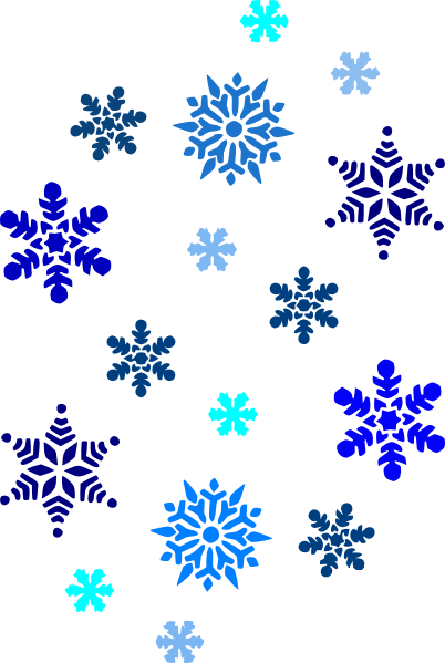 Snowflake clip art - vector .-Snowflake clip art - vector .-14