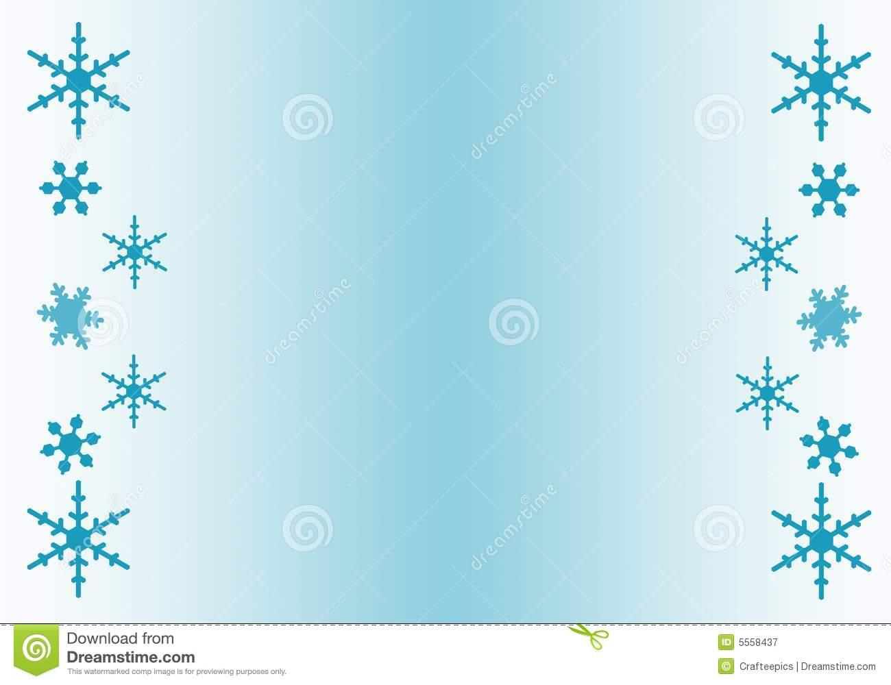 Snowflake Clipart Border .