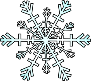 snowflake clipart transparent .