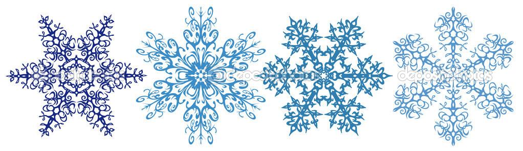 Snowflake clipart vectors .