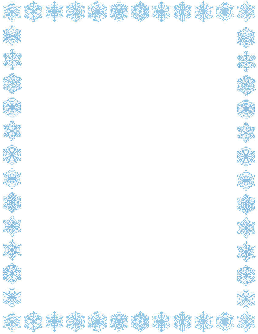 Snowflake Frame Clipart Snowflake Border-Snowflake Frame Clipart Snowflake Border Page-8