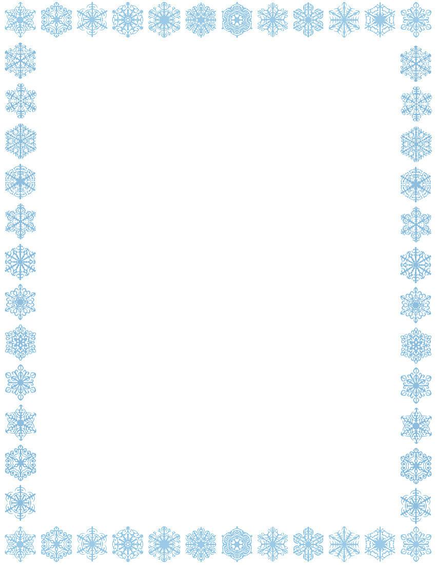 Snowflake Frame Clipart Snowflake Border Page