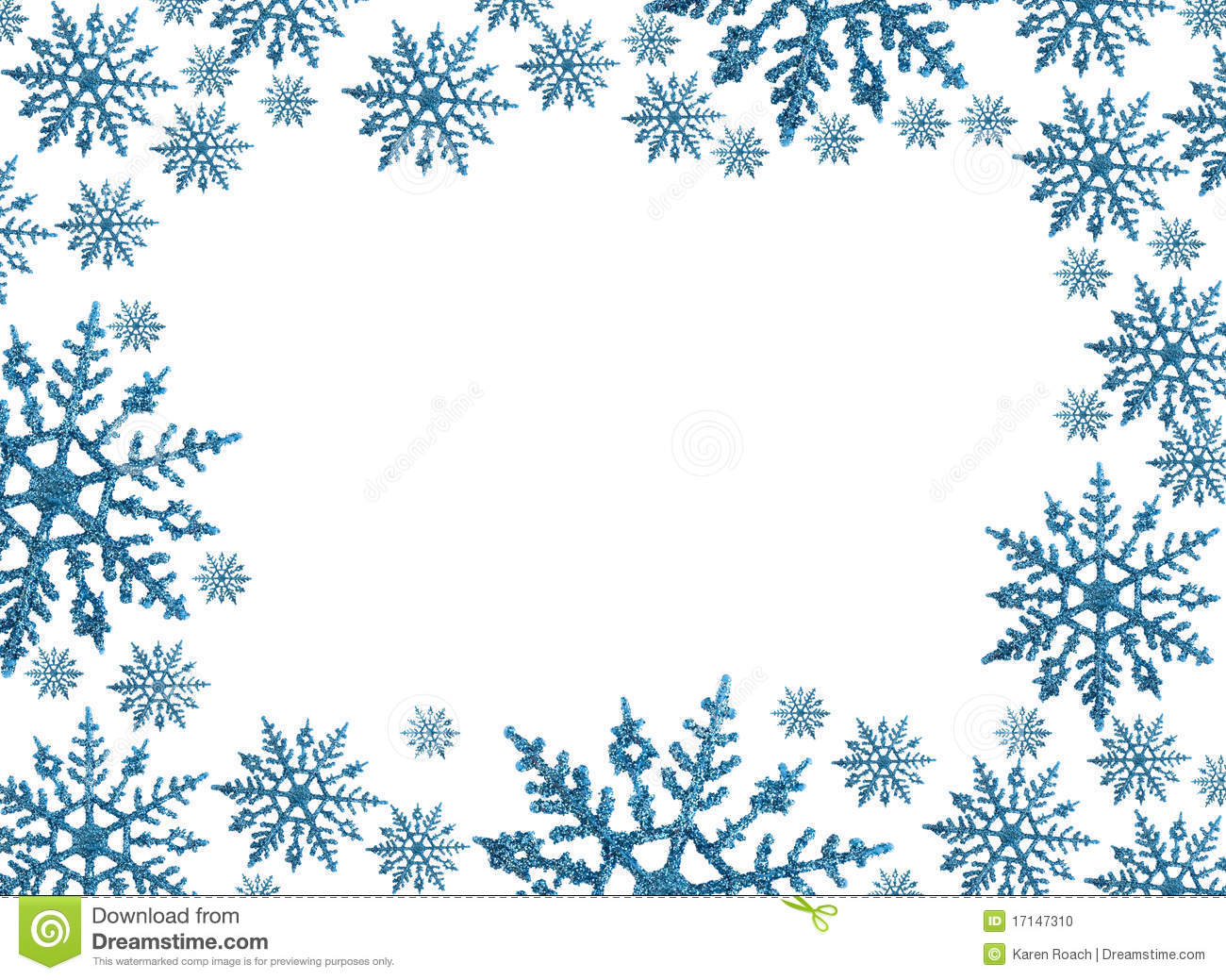 Snowflake Frame Clipart