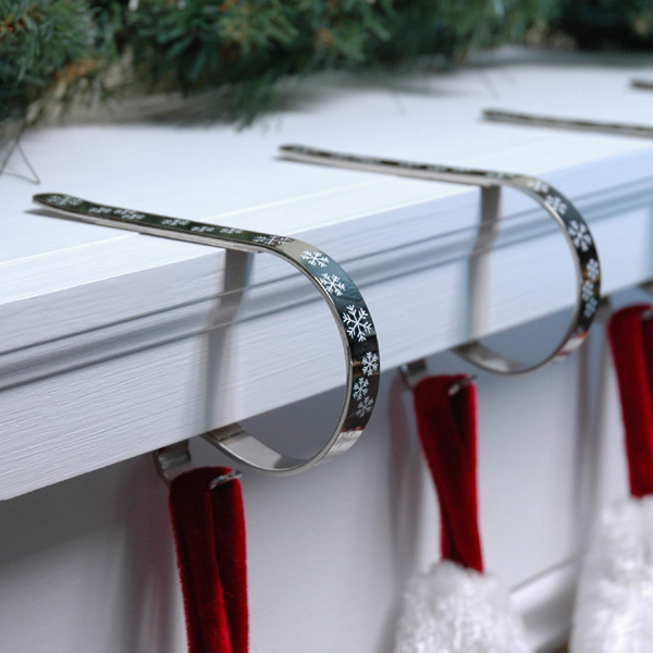 Snowflake Mantle Clips