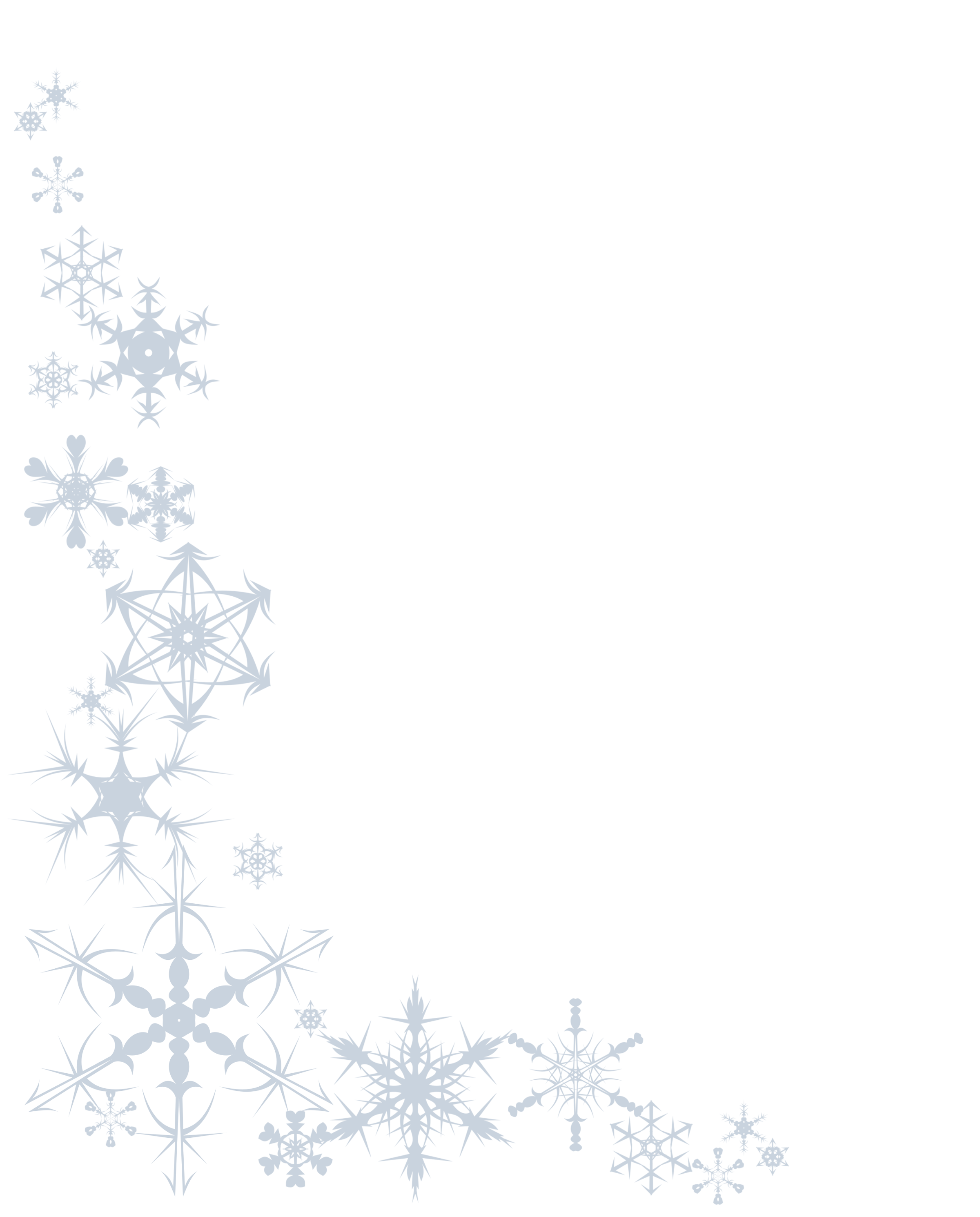 Snowflake Paper At Printables - Free Snowflake Border Clipart