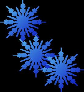 Snowflakes Blue Clip Art At C - Free Snowflake Border Clipart