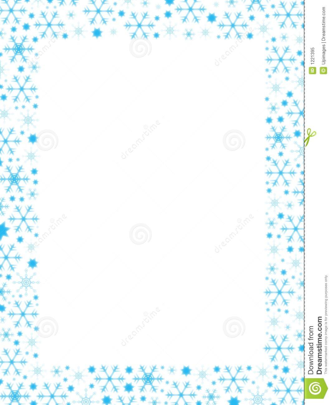 Snowflakes Border - Snowflake Clipart Border