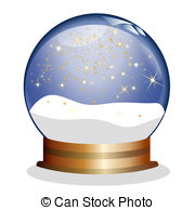 ... snowglobe with golden stars