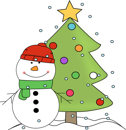 Snowman And Christmas Tree In The Snow-Snowman and Christmas Tree in the Snow-16