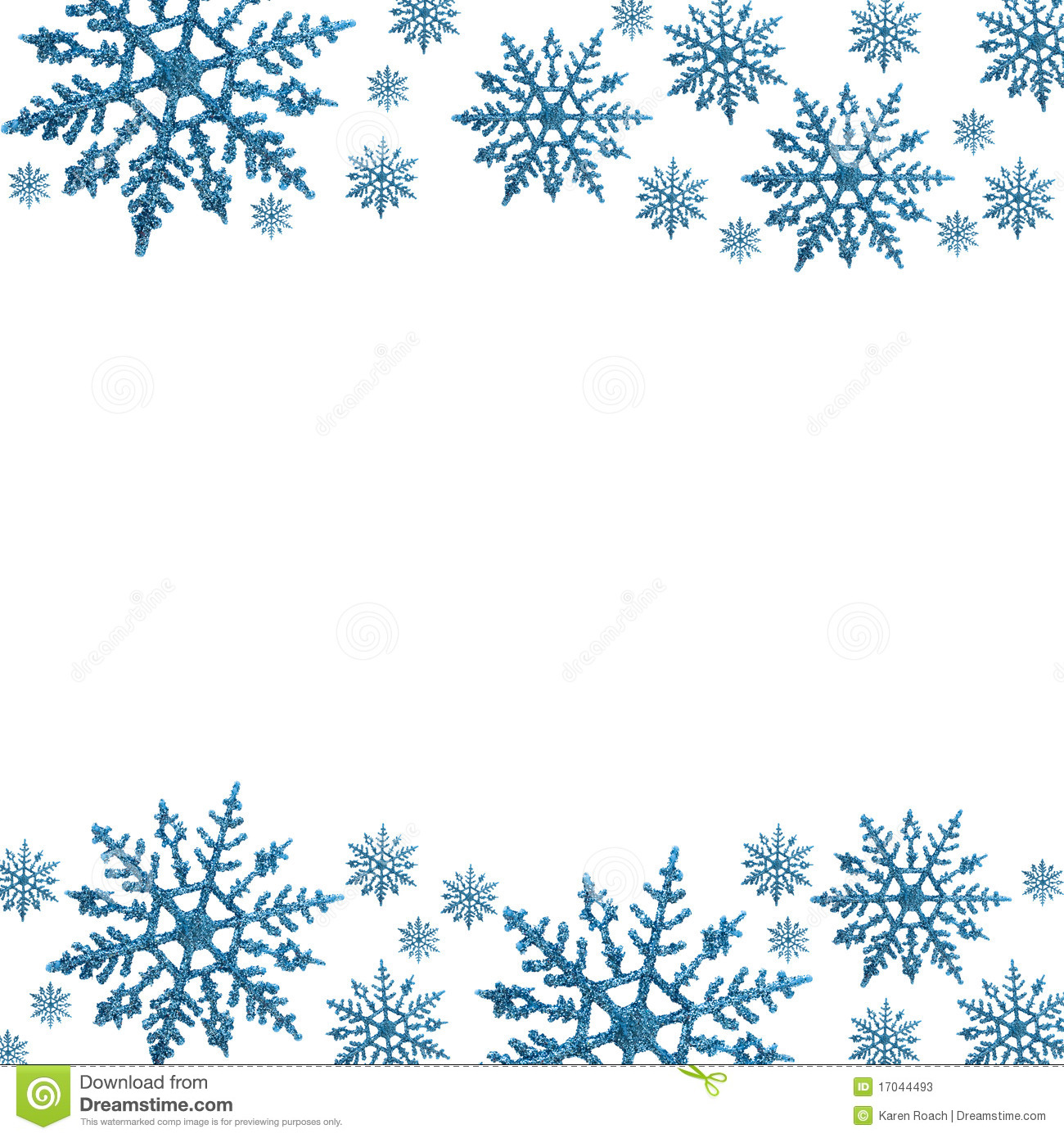 Printable snowflake stationer