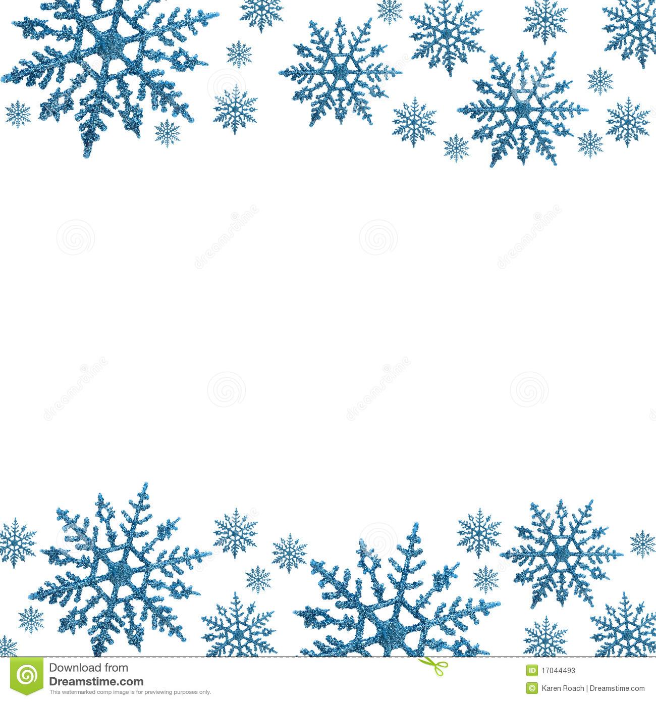 Snowman Border Clip Art Winte - Snowflake Clipart Border