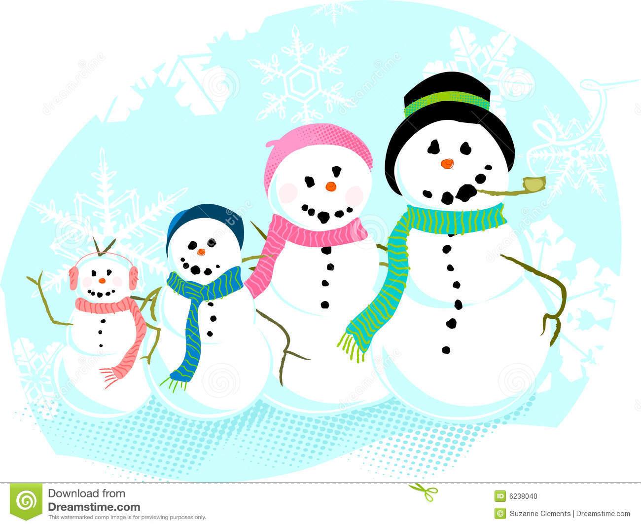 Snowman Family Clip Art Snowman Family
