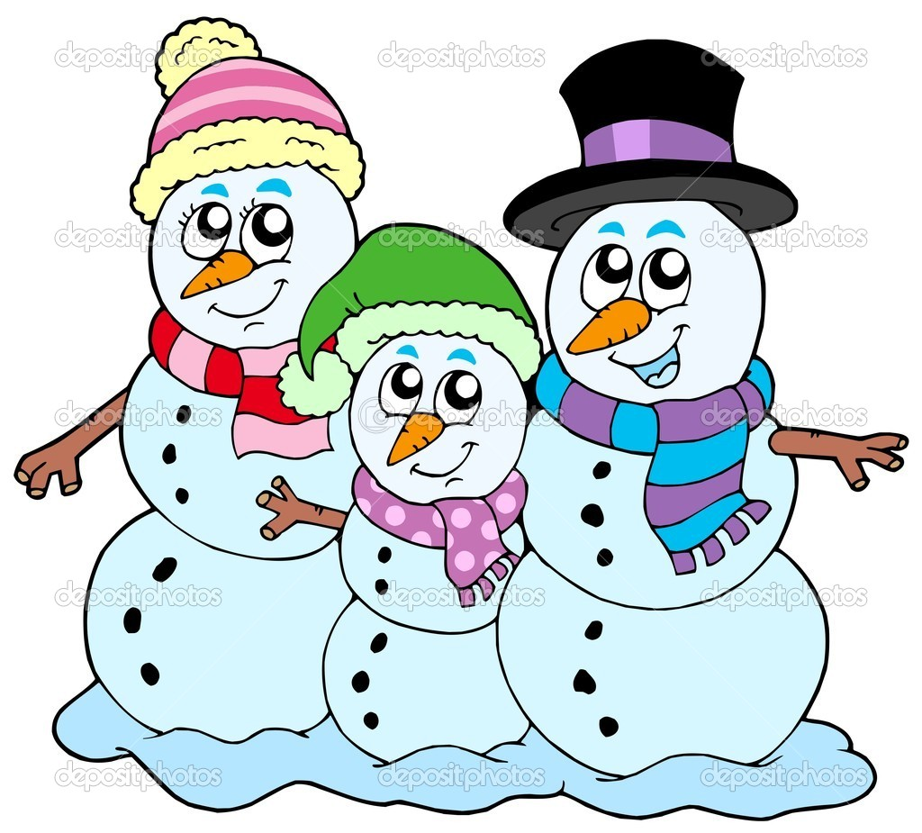 Snowman Family Clip Art Snowman Family Stock