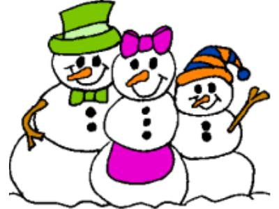 Snowman Family Clipart .