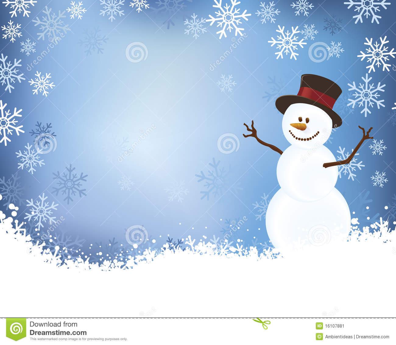 Snowman Scene Clipart #1