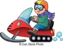Snowmobile Clip Artby YuriV0/115; Snowmo-Snowmobile Clip Artby YuriV0/115; Snowmobile theme image 1 - eps10 vector illustration.-7