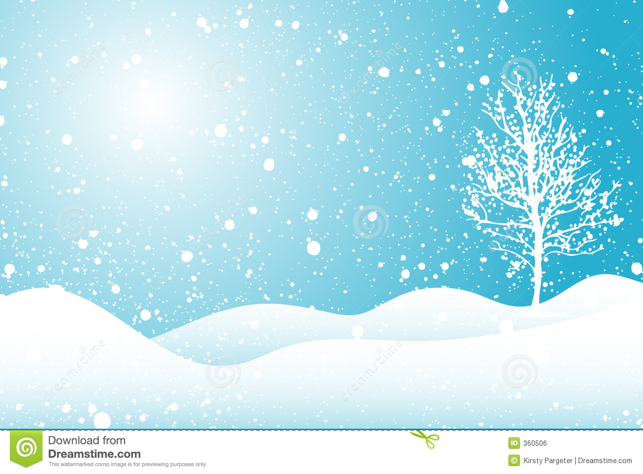 Snowy Scene Royalty Free Stock Image Image 360506