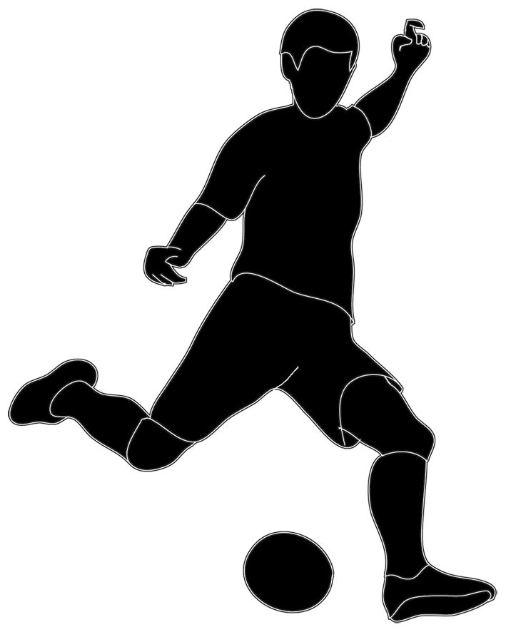 Soccer player kicking ball clipart - ClipartFest