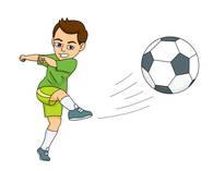 Soccer Player Kicking The Soccer Ball. S-soccer player kicking the soccer ball. Size: 39 Kb-16