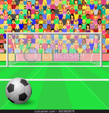 Soccer Stadium Stock Vector Clipart A So-Soccer Stadium Stock Vector Clipart A Soccer Goal With Ball And Crowd-17