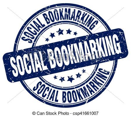 Social Bookmarking Blue Grunge Stamp - C-social bookmarking blue grunge stamp - csp41661007-6