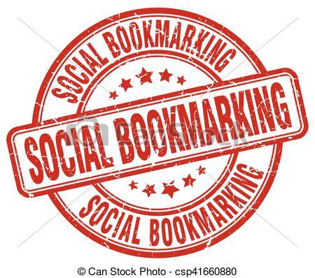 Social Bookmarking Red Grunge Stamp - Cs-social bookmarking red grunge stamp - csp41660880-12
