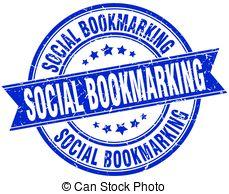 Social Bookmarking Round Grunge Ribbon S-social bookmarking round grunge ribbon stamp-13