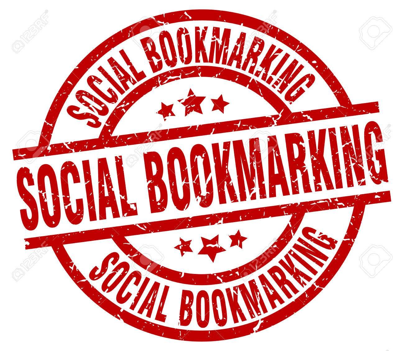 Social Bookmarking Round Red Grunge Stam-Social bookmarking round red grunge stamp Stock Vector - 76731905-15