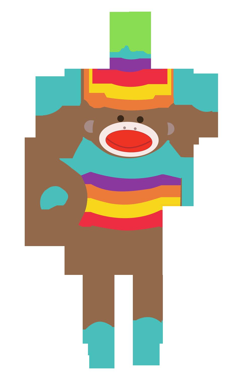 ... Sock monkey christmas clipart ...