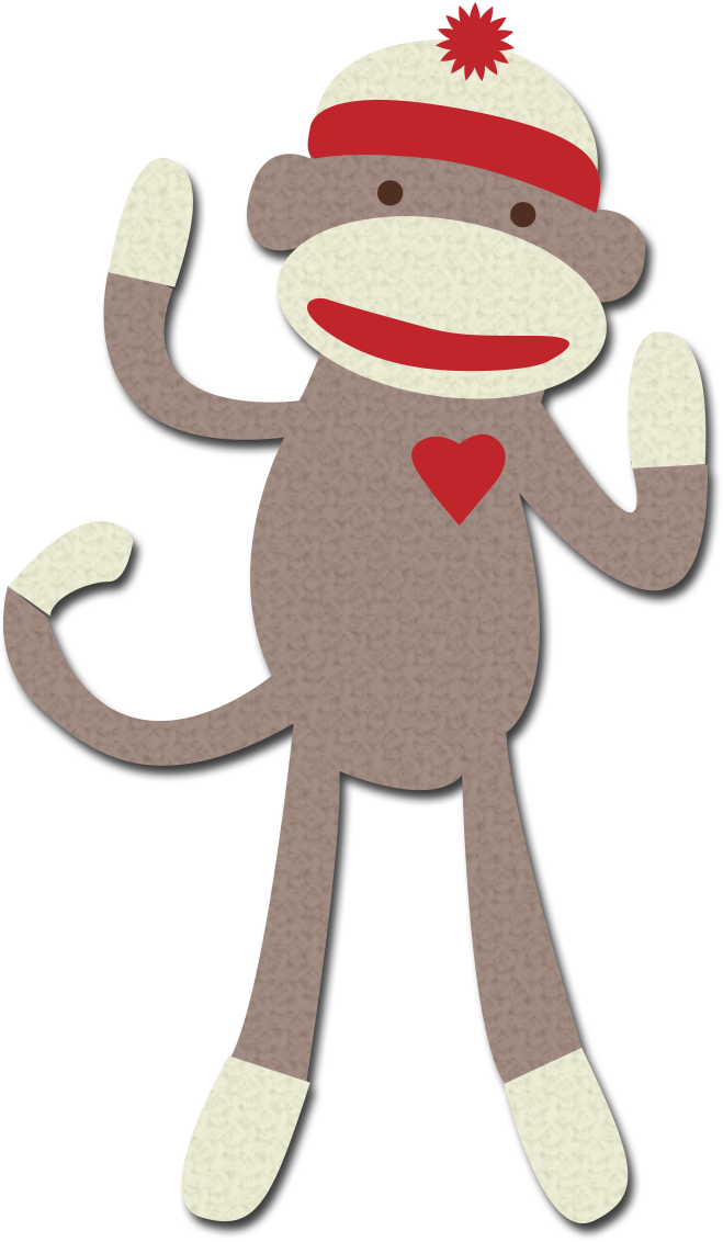 Sock Monkey Clip Art