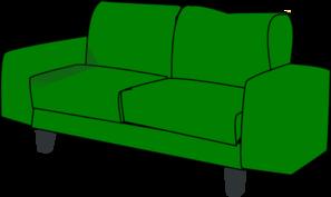 Green Sofa Couch Clip Art