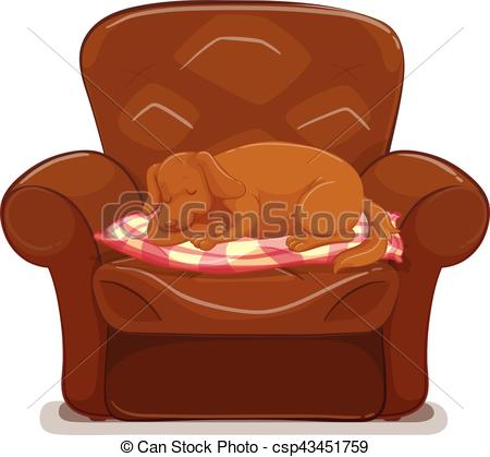 Little dog sleeping on brown sofa - csp4-Little dog sleeping on brown sofa - csp43451759-13