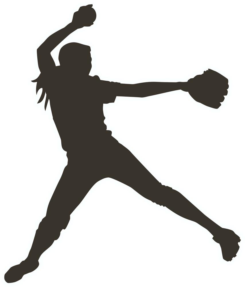 Softball pitcher clipart clipartall