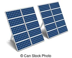 Solar Panel And Batteries With Sun Symbo-Solar panel and batteries with sun symbol Clip Artby Seamartini20/1,198; Solar energy panels - Two solar energy panels on a white.-8