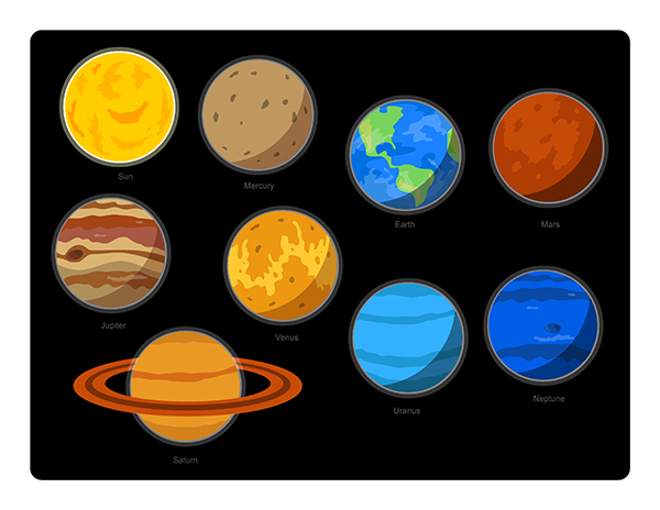 Solar System Clip Art Pack
