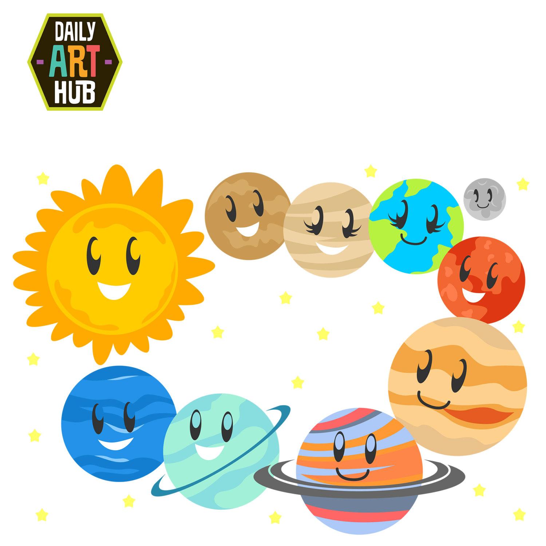 Solar System Clipart-Solar System Clipart-9
