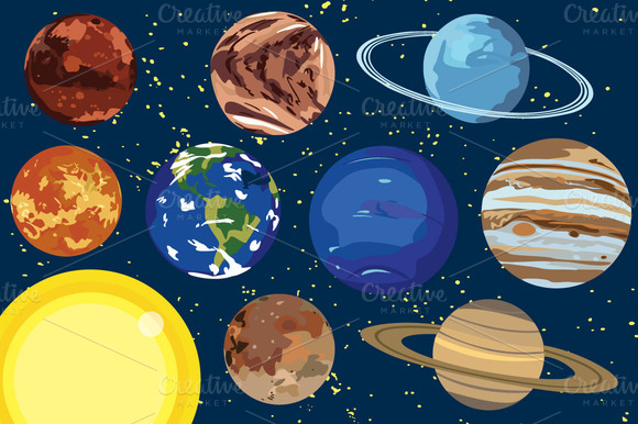Solar System Clipart-Solar System Clipart-10