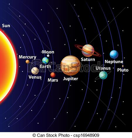 Solar System Colorful .-Solar system colorful .-11