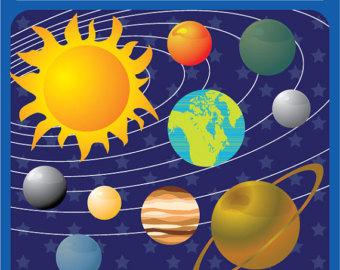 Solar System digital image .