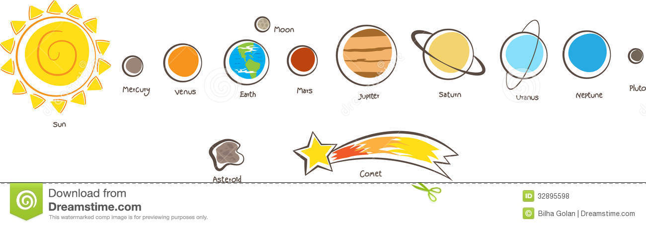Solar System Planets Royalty Free Stock -Solar System Planets Royalty Free Stock Photos Image 32895598-13