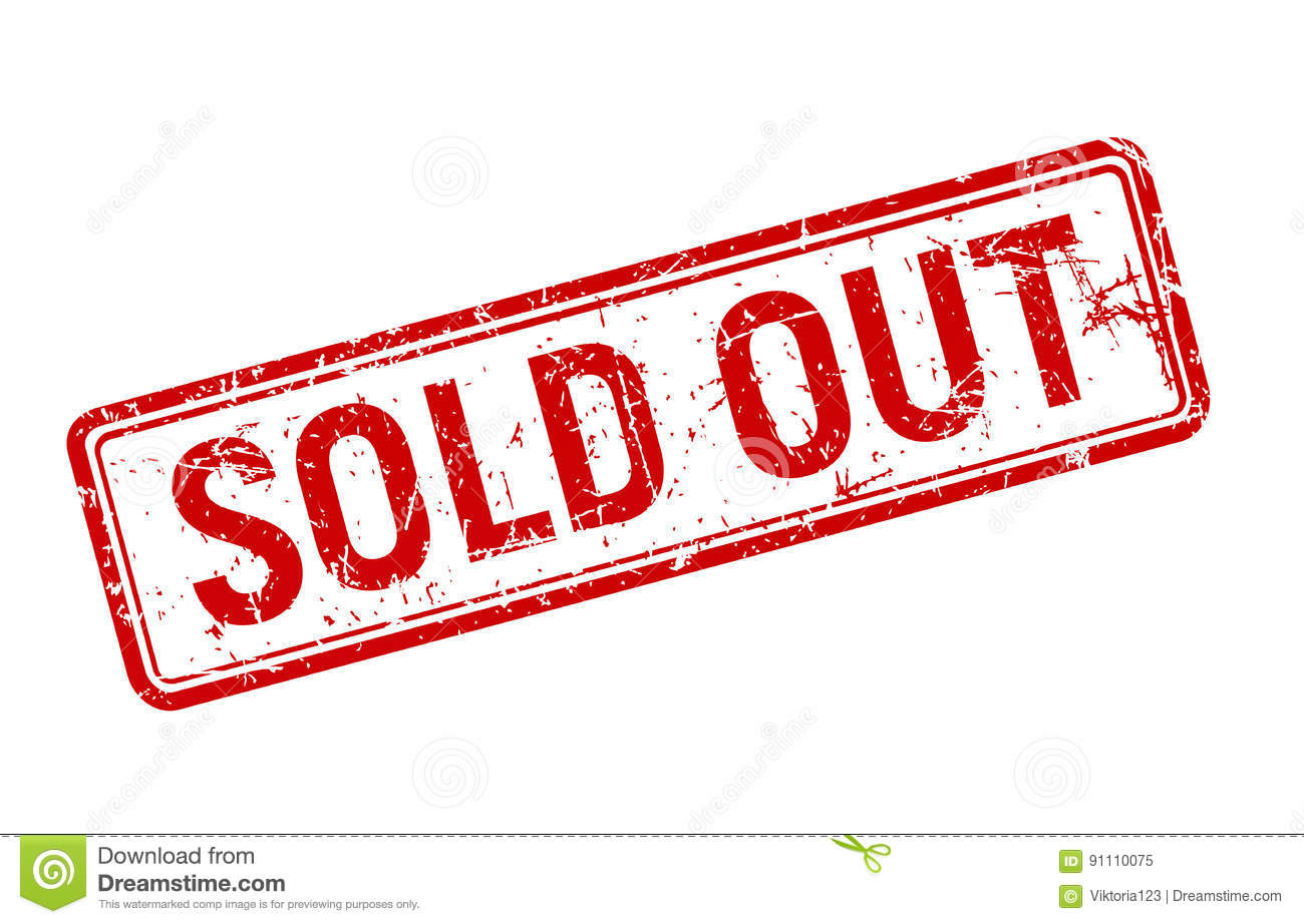 Sold Out Red Grunge Stamp Rotated On Whi-Sold out red grunge stamp rotated on white background, sale textured badge  template, vector-18
