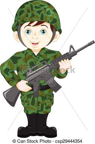 army soldier boy posing - csp29444354