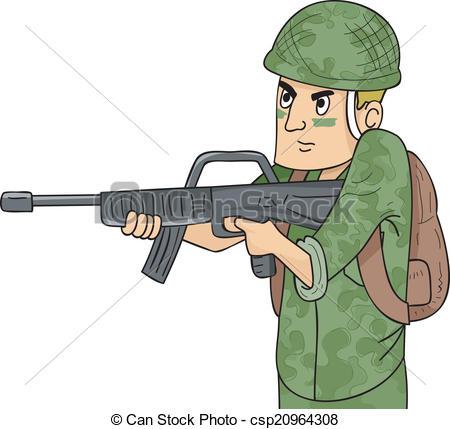 Machine Gun Soldier - csp20964308