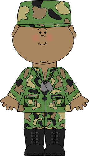 Soldier Saluting Clip Art Image - military soldier in uniform and .