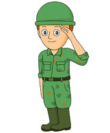 soldier saluating. Size: 63 Kb