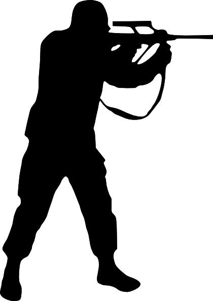 Soldier Silhouette clip art