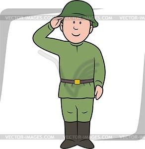 Soldier - vector clipart-Soldier - vector clipart-5