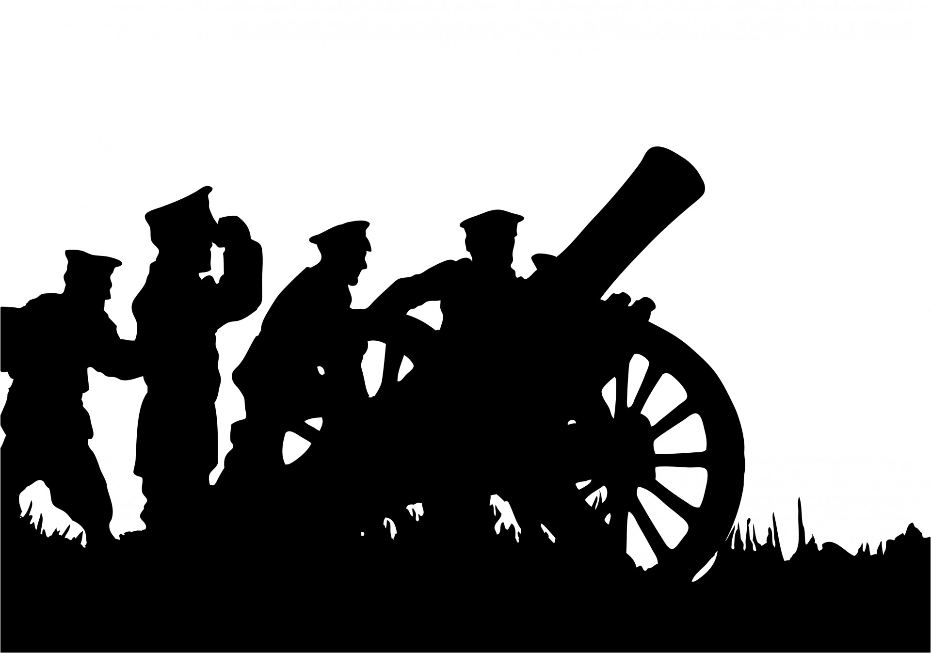 Soldiers With Canon Clipart