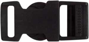 Solid Black Plastic 19mm Parachute Clip